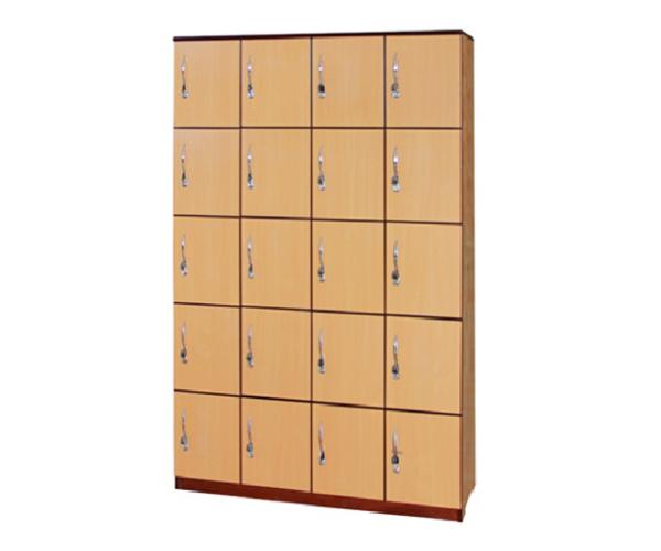 Tủ HS 20 ngăn có khóa (1,2x0,4x1,8)m- gỗ ghép toán bộ