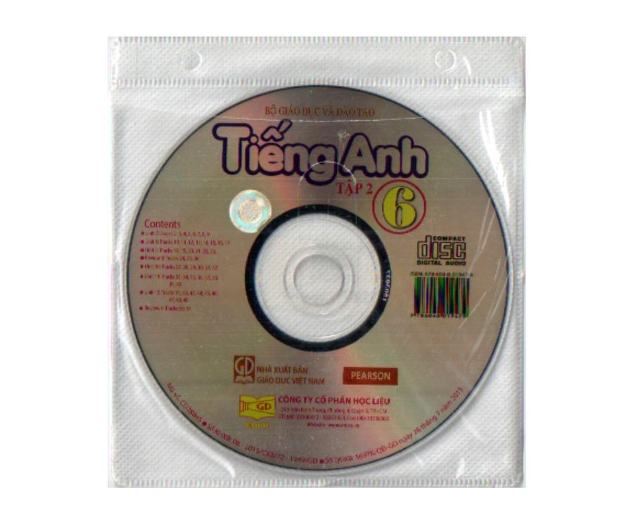 Đĩa CD Tiếng Anh lớp 6 tập 2