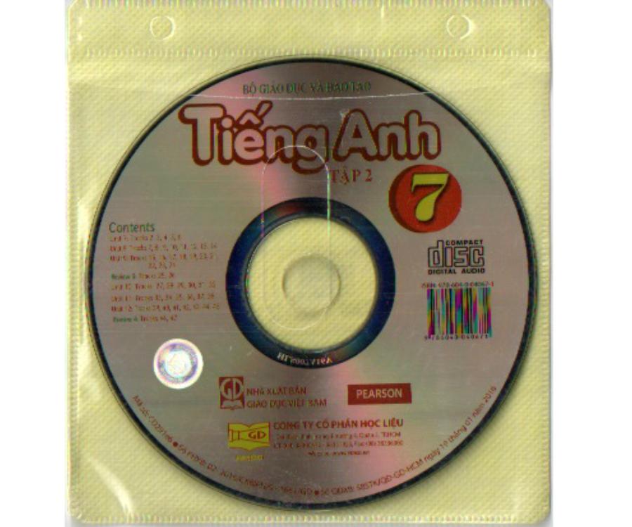 Đĩa CD Tiếng Anh lớp 7 tập 2