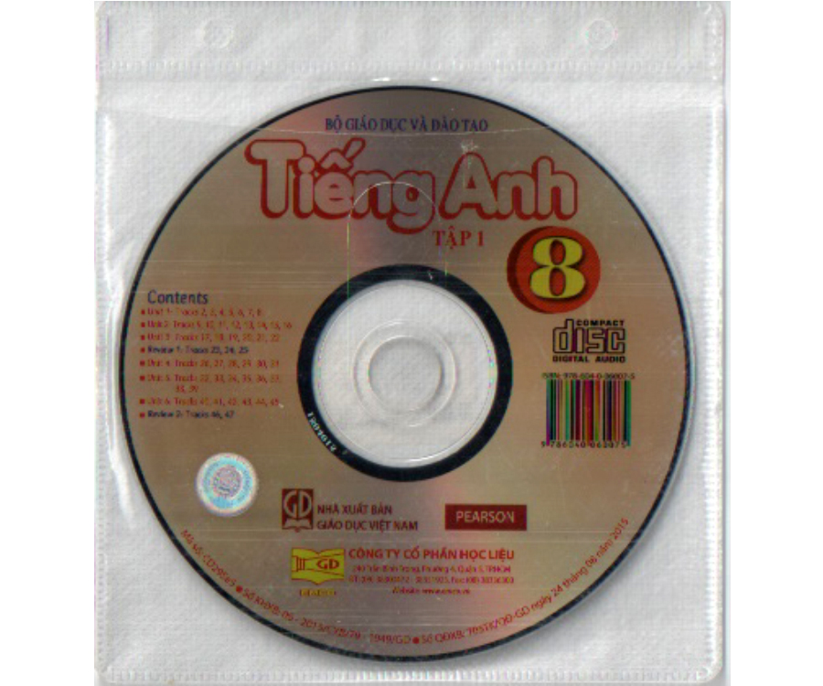 Đĩa CD Tiếng Anh lớp 8 tập 1