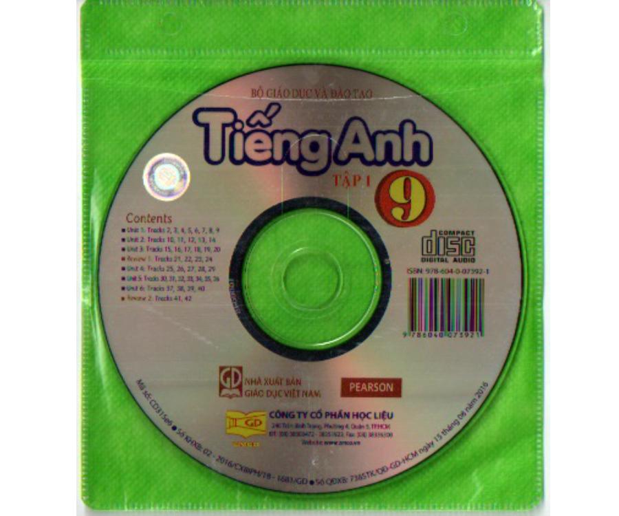 Đĩa CD Tiếng Anh lớp 9 tập 1