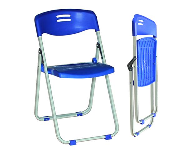 Ghế xếp chân sắc, mặt và tựa bằng nhựa