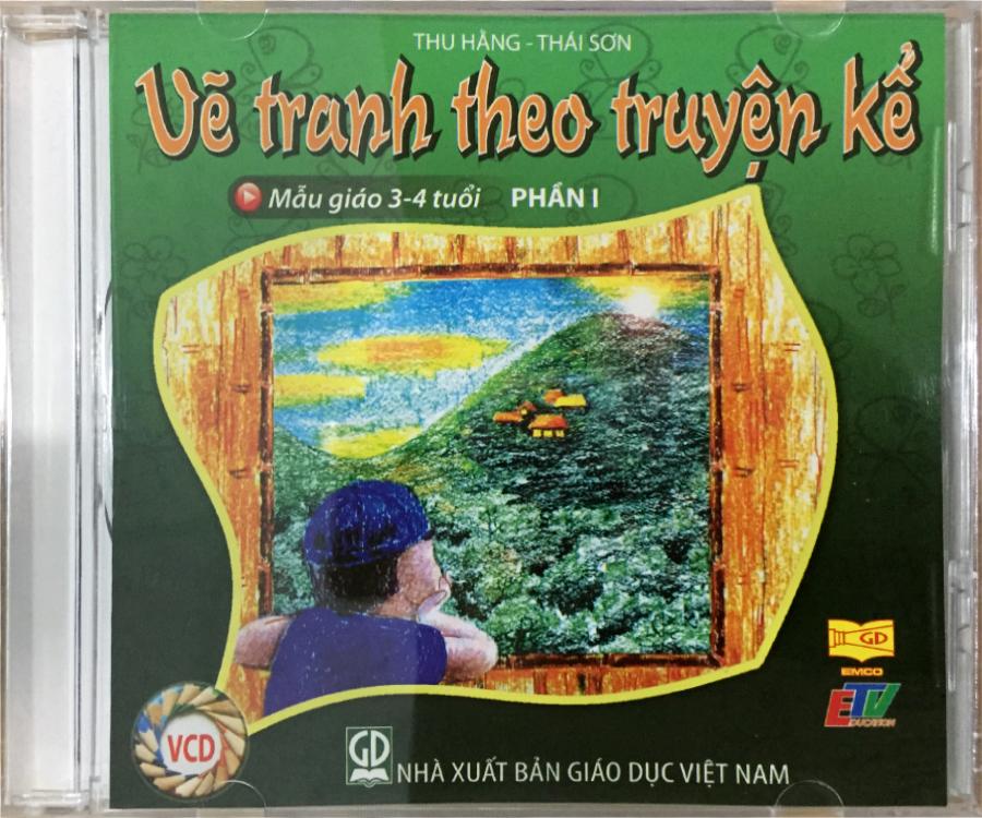 Đĩa Audio CD - Vẽ Tranh Theo Truyện Kể - Mẫu Giáo 3-4 tuổi (Phần 1)