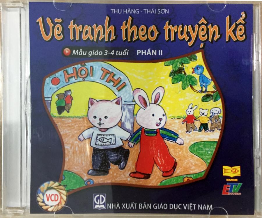Đĩa Audio CD - Vẽ Tranh Theo Truyện Kể - Mẫu Giáo 3-4 tuổi (Phần 2)