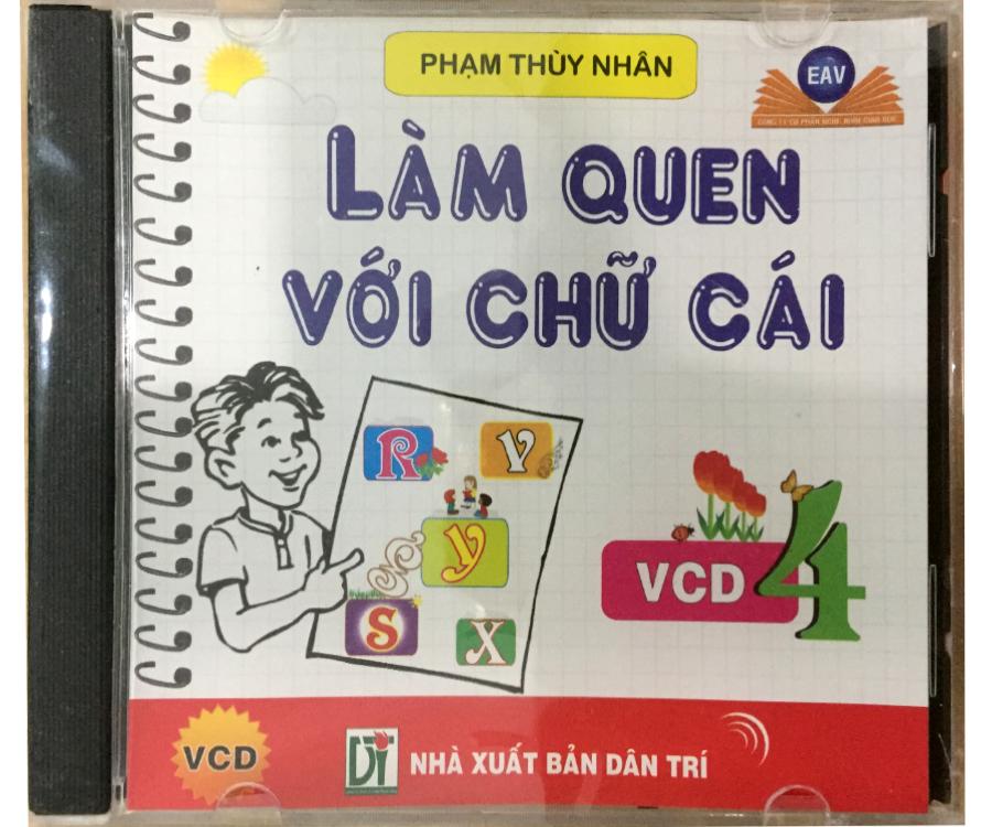 Đĩa Audio CD - Làm Quen Với Chữ Cái - VCD 4