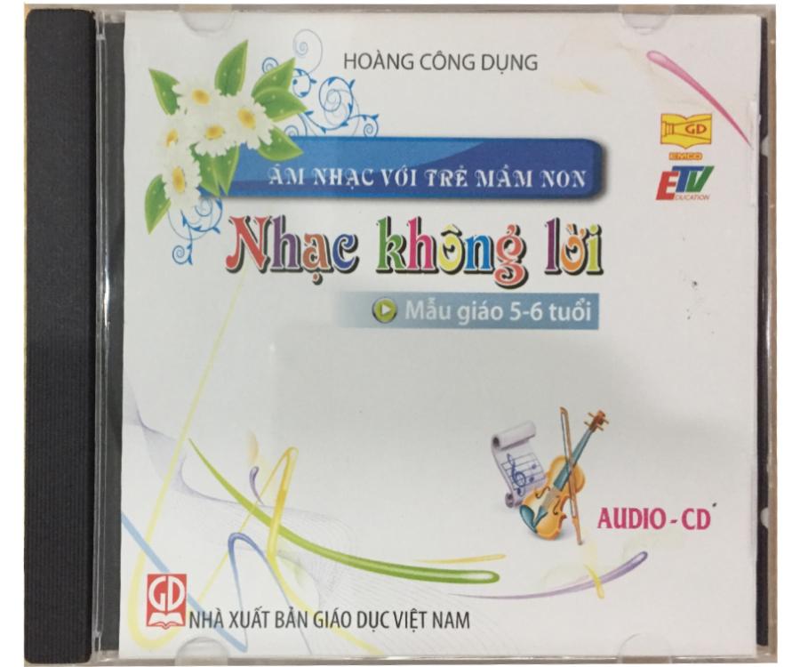 Đĩa Audio CD Nhạc không lời - Mẫu giáo 5-6 tuổi