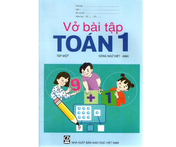 Vở BT Toán 1/1 (Song ngữ Việt - Anh)