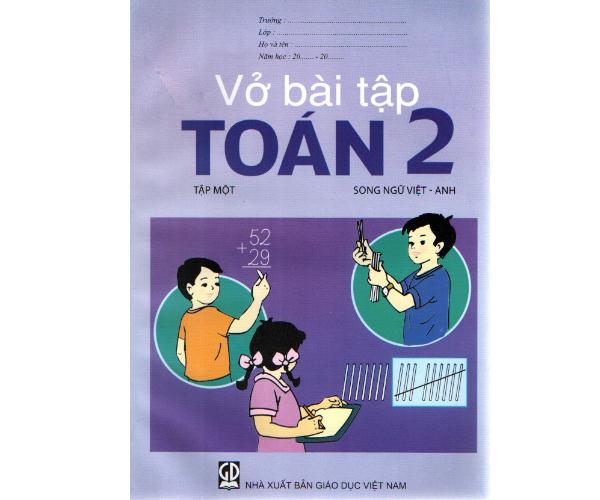 Vở BT Toán 2/1 (Song ngữ Việt - Anh)