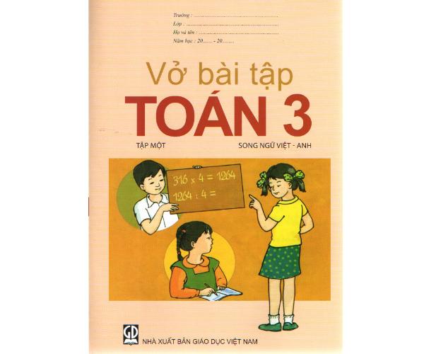 Vở BT Toán 3/1 (Song ngữ Việt - Anh)