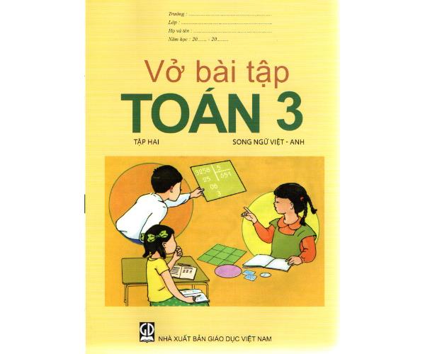 Vở BT Toán 3/2 (Song ngữ Việt - Anh)