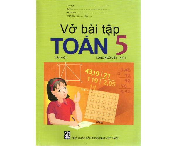 Vở BT Toán 5/1 (Song ngữ Việt - Anh)